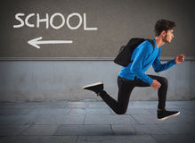 Run away from school Royalty Free Stock Images