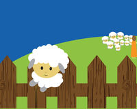 Run away sheep Stock Images
