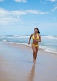 Run on beach Royalty Free Stock Photos