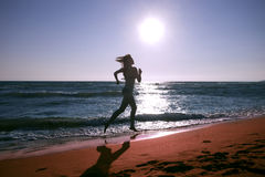Run at beach Royalty Free Stock Images