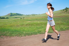 Run beauty woman Stock Photography
