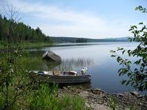 Run-about-boat scenic Stock Photo