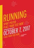 Run championship poster design template. Stock Images