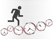 Run on clocks Royalty Free Stock Photography