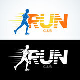 Run club logo template. Sport logotype template, sports club, running club and fitness  logo design template. Man fitness. Stock Photography