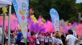 Run in colors - colorful eclipse Stock Images