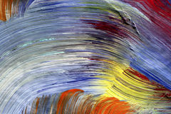 Run colors - craftsmanship. Extreme closeup of strokes of the brush - run colors - craftsmanship Stock Images