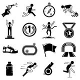 Run competition icons Stock Photo