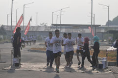 Run competition in Indonesia Stock Image