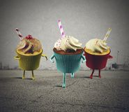 Run cupcake Royalty Free Stock Photo