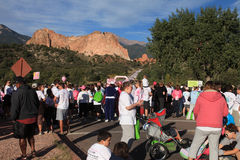 Run for the cure Stock Image
