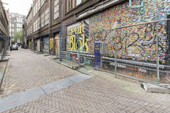 Run down buildings in Amsterdam Royalty Free Stock Photography