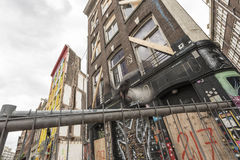 Run down buildings in Amsterdam Stock Photos