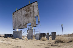 Run down drive-in movie screen. Old drive-in movie screen in Yerington Nevada Royalty Free Stock Images
