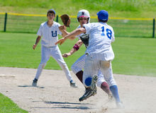 Run Down - High School Baseball Stock Photos