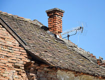 Run down house roof Royalty Free Stock Image