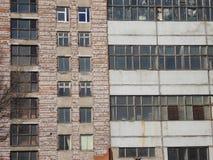 Run down industrial building. Facade of a large industrial complex near Tallinn Stock Photography