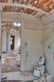 The Run Down Interior. Of an Old Building stock photos