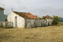 Run down old building in rural Portugal Royalty Free Stock Image