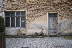 Abondoned house. Run down old italian mansion Royalty Free Stock Image
