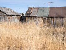Run down outbuildings in rural Nevada Royalty Free Stock Image