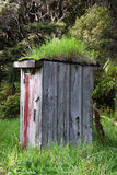 Run down outhouse Stock Photography