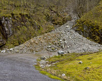 Run-down road in rural landscape Royalty Free Stock Photography
