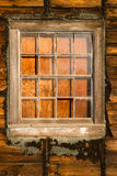 Run Down Ruin Boarded Up House Plywood Window Panes Stock Images