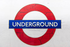 Run down tube logo Stock Photography