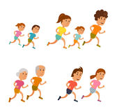 Run family vector Royalty Free Stock Photo