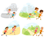 Run family vector Royalty Free Stock Photography