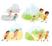Run family vector Royalty Free Stock Photography