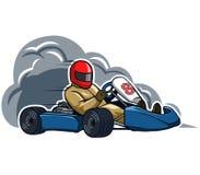 Run Fast Gokart. Vector illustration for go kart race theme Stock Image