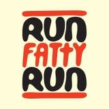 Run fatty run vector illustration