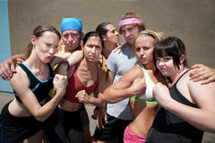 We run for fun and look good too. Royalty Free Stock Photo