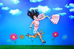 Run for fun royalty free illustration