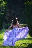 Run through garden Royalty Free Stock Photography