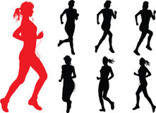 Run Girls Royalty Free Stock Images