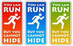 Run and hide vector illustration