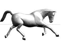 Run of horse. Pencil figure of run horse Royalty Free Stock Photo