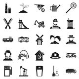 Run icons set, simple style Royalty Free Stock Images