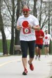 Run For Japan / Elder Man Royalty Free Stock Image