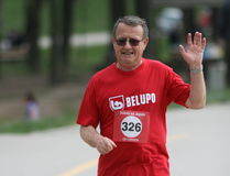 Run For Japan / Elderly Man Royalty Free Stock Photos