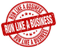 Run like a business red stamp Royalty Free Stock Photo