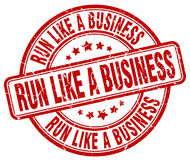run like a business red stamp Royalty Free Stock Image