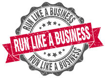 run like a business stamp Royalty Free Stock Image