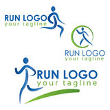 Run logo colorfu stock photography