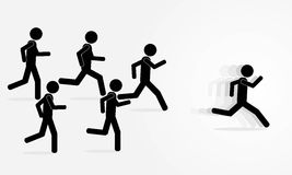 Run man Royalty Free Stock Image