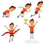 Run man. Running competition Royalty Free Stock Image