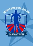 Run Marathon Achieve Something Poster Royalty Free Stock Photography